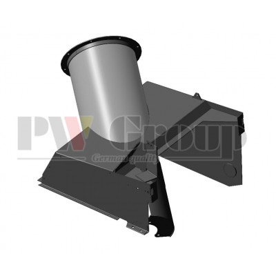Filler head (grain tank's foot/base for bubble-up loading auger's tube)