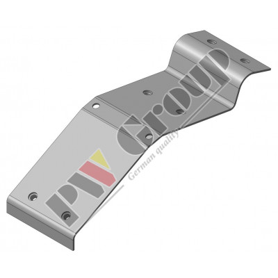 Connection for guiding plate (Header floor, Cutter bar)