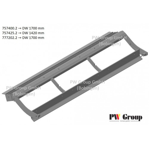 Pre-concave frame w/grate (slotted | cell 12x22mm)