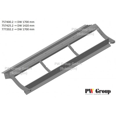 Pre-concave frame w/slotted | cell grate 6,5×32 mm