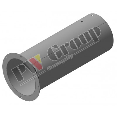 Filler tube (trough for bubble-up loading auger of grain tank)